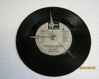 "Vic Lezal's Professionals - ""Chattanooga Choo Choo"" Vinyl Record Wall Clock"
