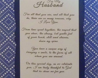 For My Husband - Father's Day