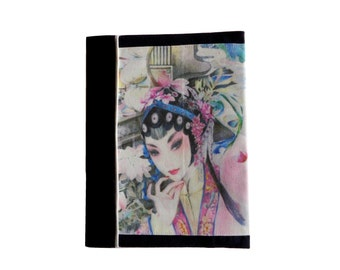 Protects Kaline Navy blue fabric notebook / notebook 17x22cm
