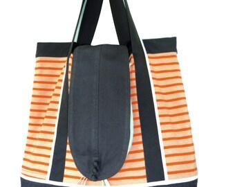 Great spirit tote bag Navy orange and gray