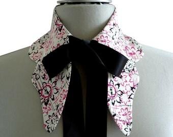 Collar shirt form butterfly knot black