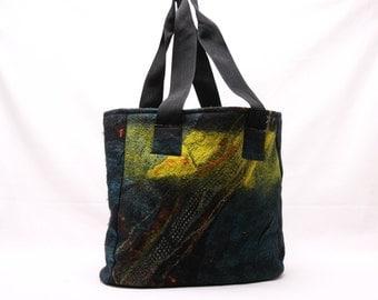 Handmade Nuno-Felted Tote Bag