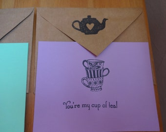 Handmade Tea Lover Recycled Stationary - Set of 8