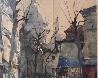 Watercolour of Montmartre