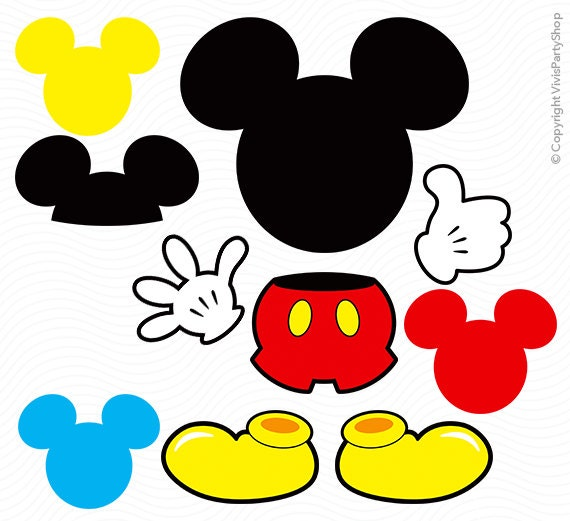 Declarative image in printable mickey mouse