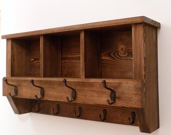 Entryway, Hallway or Mudroom Coat Rack with Cubbies