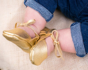 GOLD || mary jane moccasin