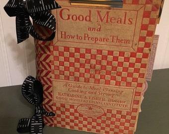 Vintage altered cookbook