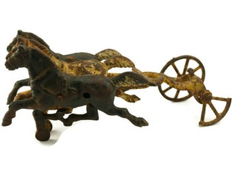 Vintage Cast Iron Horses