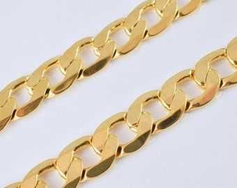 """18K Gold Filled Chain 17.5"""" Inch Link size 14.5x10mm #M(CG168)"""