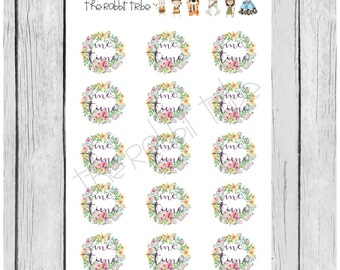 Mini Sticker Sheet - me time- planner stickers