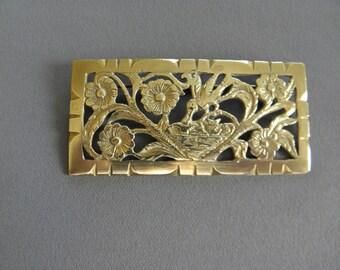 "PIN metal golden years 1930, pure art deco, 7.4 cm 27/8 ""x 3.5 cm 1 3/8"" ""20euros"