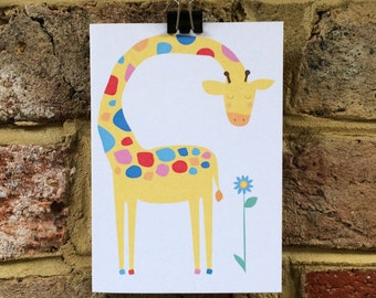 Giraffe greetings card