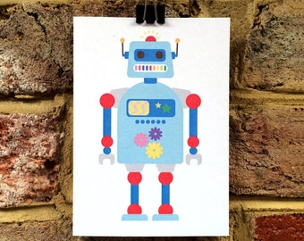 Robot greetings card