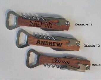 Groomsmen bottle opener - engraved bottle opener - groomsman gift for best man accessories