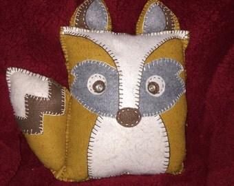 Wool felt plush fox