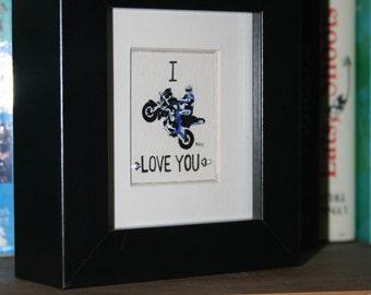 I 'wheely' love you hand painted original miniature