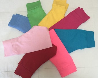 Baby or toddler solid color leggings
