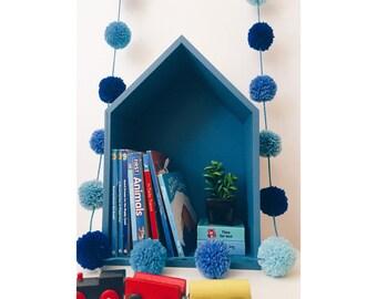 Blue Pompom bunting