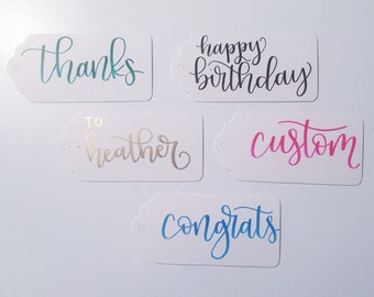 Hand Lettered Scalloped Gift Tags with Twine