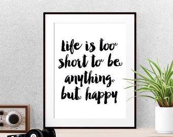 Motivational wall decor, Inspirational wall art, Inspirational typography, Wall art quotes, Printable quotes, Quote prints,