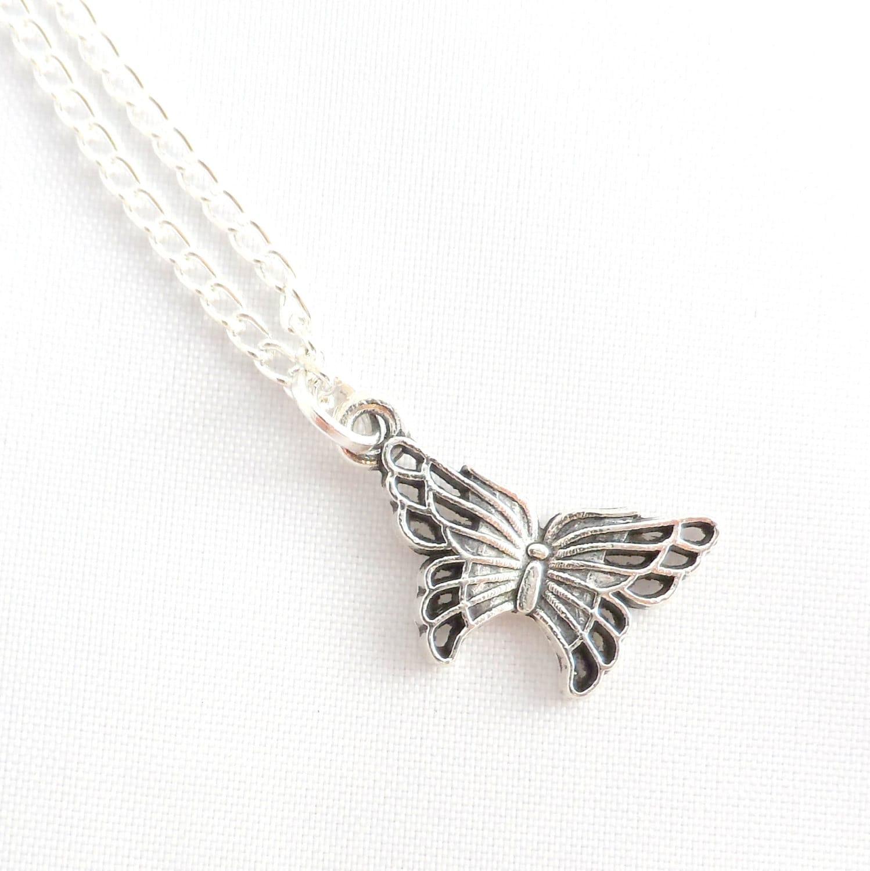 silver butterfly necklace butterfly necklace butterfly