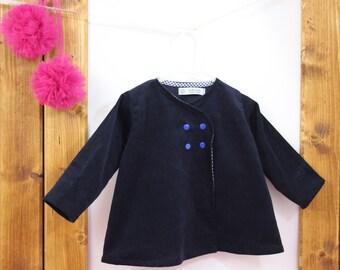 Blue Velvet jacket MAKO - marine - 24 months