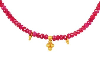 Ruby with Gold
