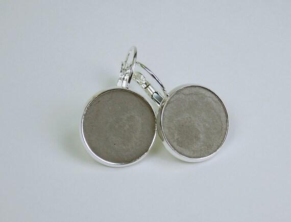 Earrings concrete jewelry on silver earrings closed unique pair of earrings concrete jewelry grey Silver