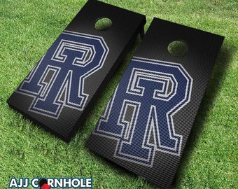 Officially Licensed Univserity of Rhode Island Slanted Cornhole Set with Bags - Bean Bag Toss - Rhode Island Cornhole - Corn Toss