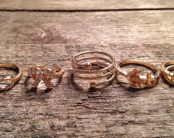 Set of gold plated rings / Gold plated ring set