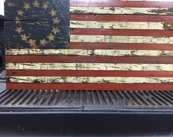13 star Distressed American Flag