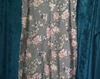 flower power button down overall dress