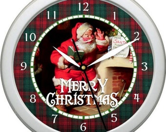 "Santa Clause 2 - 10"" Wall Clock Personalized Christmas Gift Holiday Housewarming Gift"