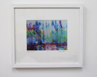 Semi abstract landscape framed print