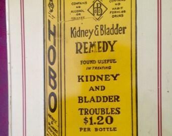 Vintage Tin Sign (1974) HOBO Medicine
