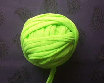 Bright green t shirt yarn