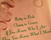 Ladies T-Shirt--AKA Alpha Kappa Alpha Sorority Pretty In Pink by Sheryl Heading