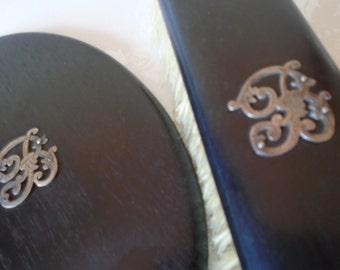 Ebony Mirror /Clothes brush silver B monogram