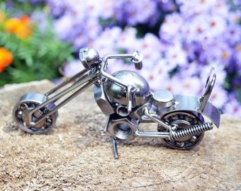Motorcycle toy Motorcycle model Handmade Motorcycle figurine Collector motorcycle Handmade motorcycle Metal motorcycle Motorcycle sculpture