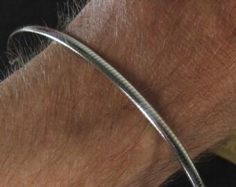 """Vintage Sterling Silver Italian Chain Bracelet 7.5"""""""