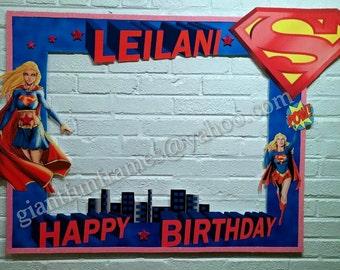 Supergirl Frame / Photo Booth / Photo Prop Digital File