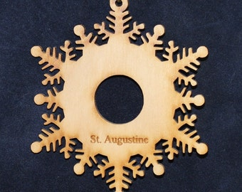 Snowflake Ornament~Wood~Personalized FREE
