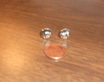 Vintage Monet Silver Earrings