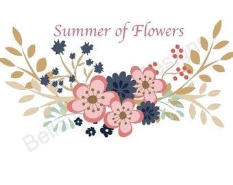 PNG Summer of Flowers  - digital artwork