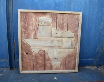 Texas Barnwood Wall Hanging; Pallet Sign; Rustic Home Decor
