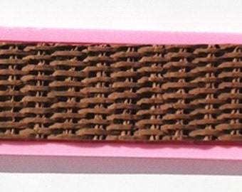 Basket Weave Silicone Mold Basketweave