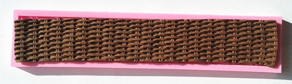 Basket Weaving Molds : Basket weave silicone mold basketweave by annettescakesupplies