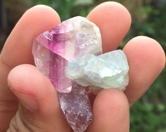 Raw Green-Purple Fluorite