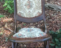Antique Rocker, Rocker, Folding Chair, Lawn Chair, Porch Chair, Patio Furniture, Sewing Room
